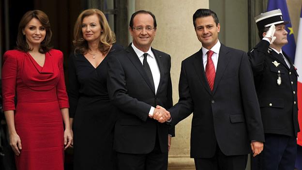 Los presidentes François Hollande (Francia) y Enrique Peña Nieto (México). (Tomada de Mientras Tanto en México)