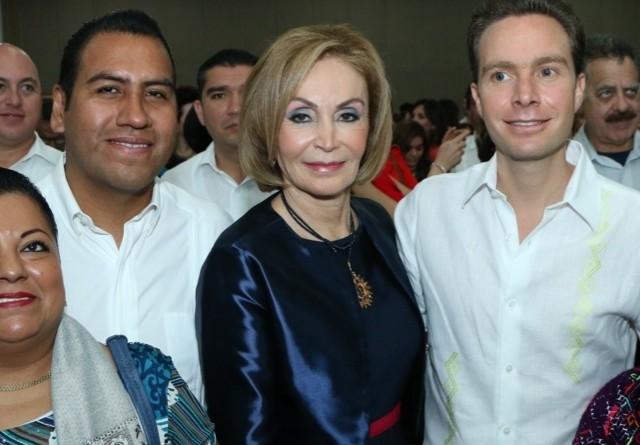 Leticia Coello y Manuel Velasco.