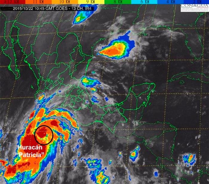 Imagen del Sistema Meteorológico Nacional.