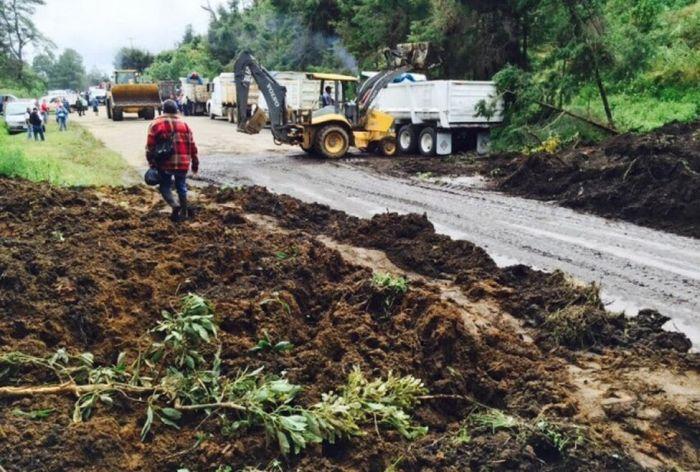 Carretera en Michoacán.